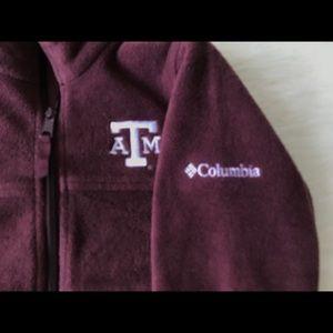 Columbia Texas A & M Aggies Fleece Jacket Sz 6